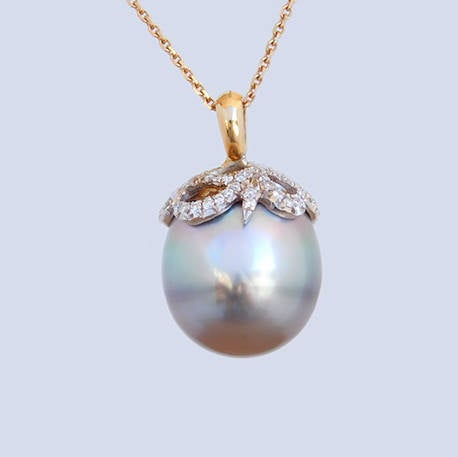 Bridget Tahitian Pearl Diamonds Pendant