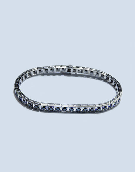 Miranda Black Enhanced Diamonds Tennis Bracelet