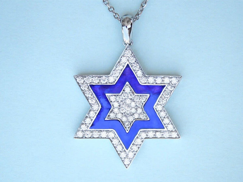 Tradition of Love Magen David Diamond Pendant
