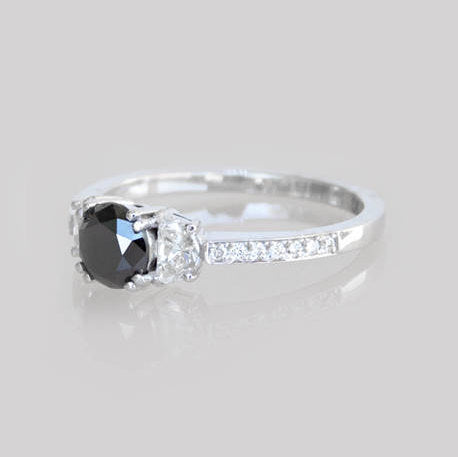 Roberta Black Diamond Engagement Ring