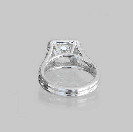 Lucy Engagement Pave Diamond Ring