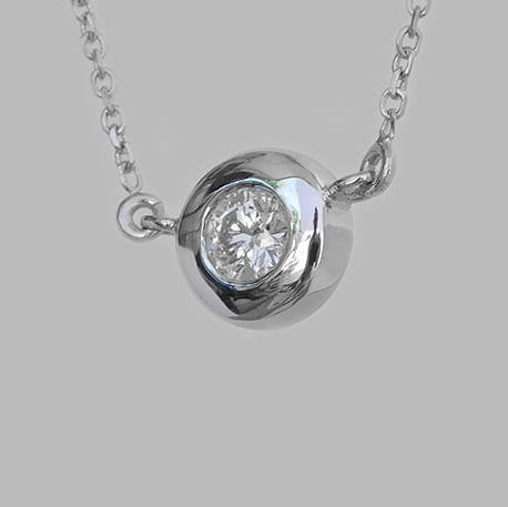 Maya Diamond Solitaire Pendant