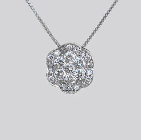 Maria Flower Diamond Shaped Pendant