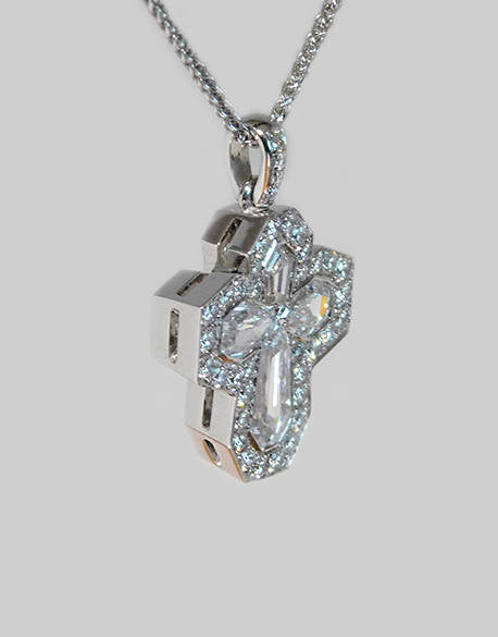 Jordan Cross Diamond Pendant