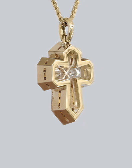 Chrisa Cross Diamond Pendant