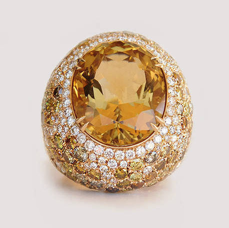 Rosabella Citrine Diamond Ring