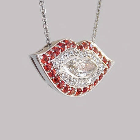 Giselle Lips Diamond Pendant