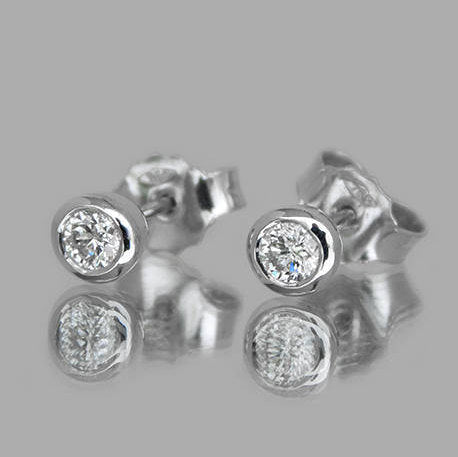 Kate Round Diamond Stud Earrings