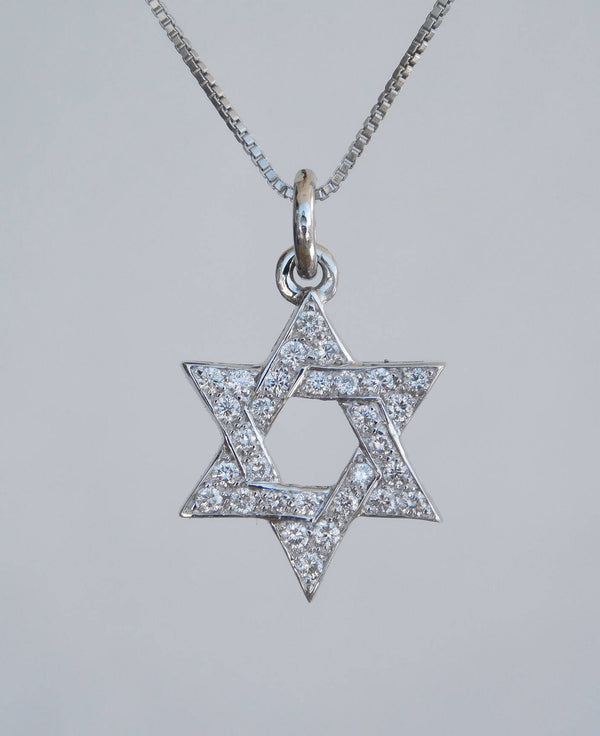 Classic Magen David Diamond Pendant