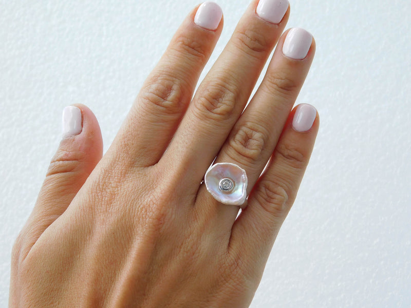 Maritime Pearl with Diamond Ring
