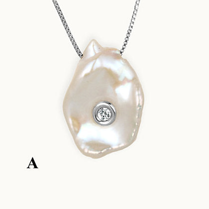 Precious Pearl with Diamond Pendant