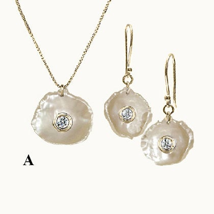 Treasure Set Mother of Pearl with Diamonds