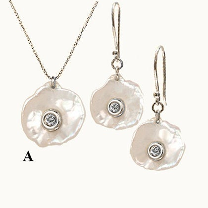 Aqua Set Mother of Pearl Set