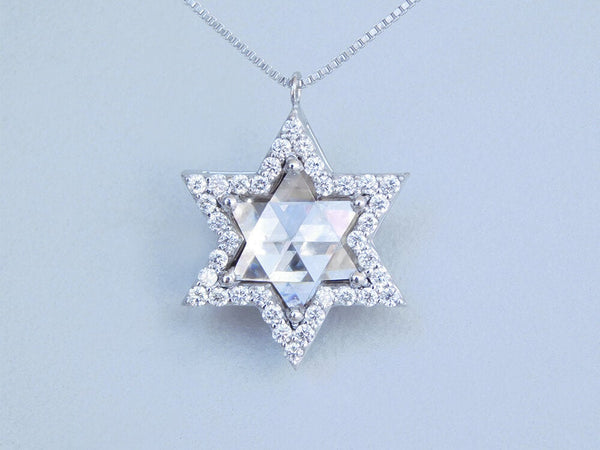 Glowing Star of David Pave Diamond Pendant