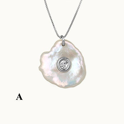 Clams Mother of Pearl Silver Pendant
