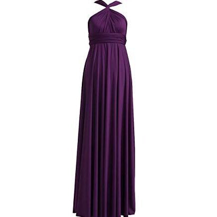 purple infinity jersey dress.  Shows one of many variations possible