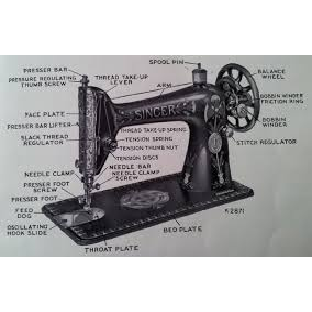 image shows vintage  Singer sewing machine