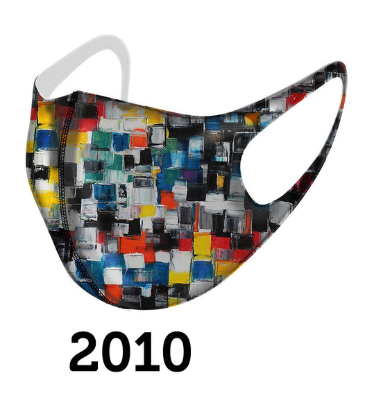 Dolcezza Mask - Multicolor Squares - 2010