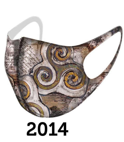 Dolcezza Mask - Brown Swirls - 2014