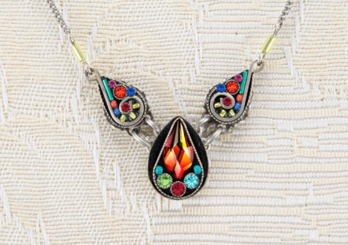 Firefly 8935 Necklace Medium Drop Multicolor