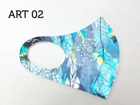 Dolcezza Mask - Love of Blue Happiness Art 02
