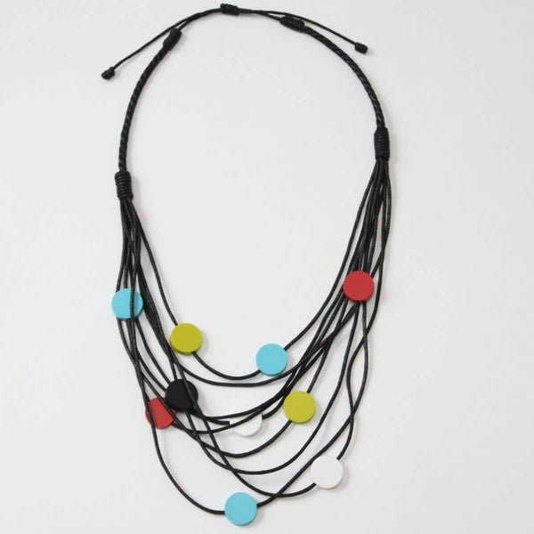 Sylca Circle Multi-Strand Jackie Necklace ZA20N02