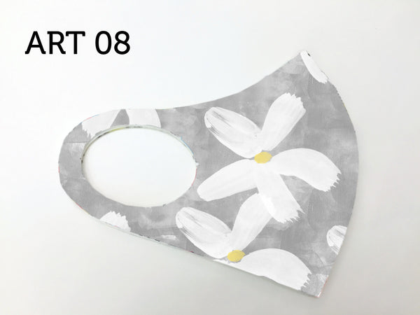 Dolcezza Mask - Soft White Flower Art 08