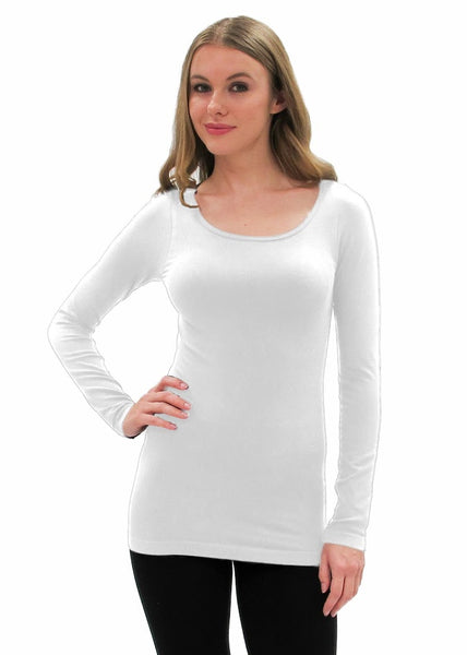 Elietian One Size Long Sleeve Top - White