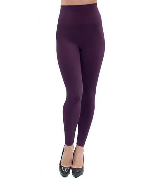 Elietian One-Size Full-Length Legging Eggplant