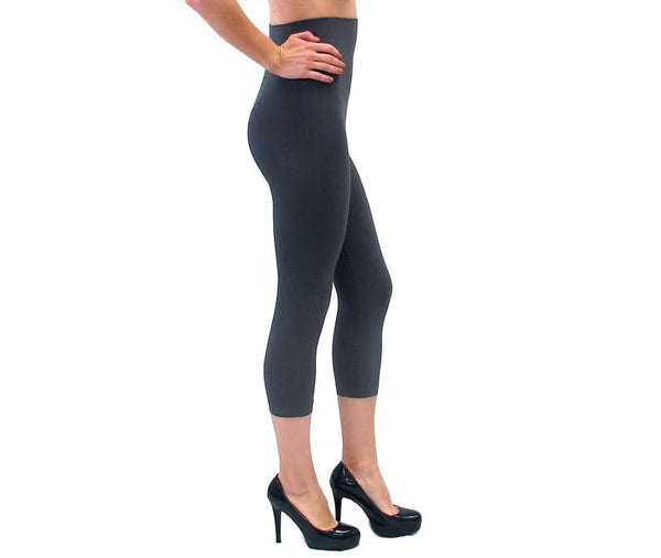 Elietian Legging Crop - Charcoal