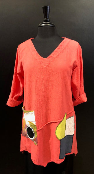 Cottonways CORAL Raquel Cotton Gauze Tunic