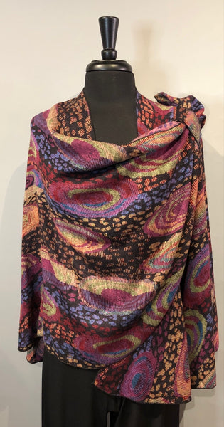 Rapti #4 Reversible Cashmere Buckle Shawl