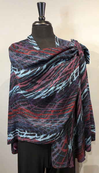 Rapti #7 Reversible Cashmere Buckle Shawl