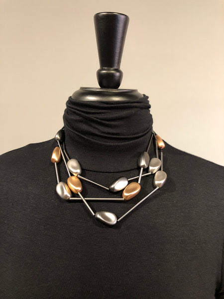 Escape From Paris BSA7N Choker With Nuggets and Tubes