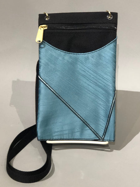 Danny K Cell Phone Bag - Turquoise Satin