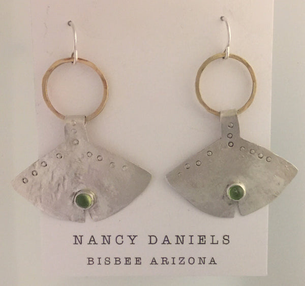 Nancy Daniels - Stonehenge With Peridot Earrings