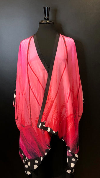 Cocoon House Silk Long Kimono - In The Pink