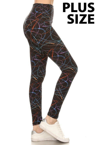 Leggings Depot PLUS Scribble LY5XR638