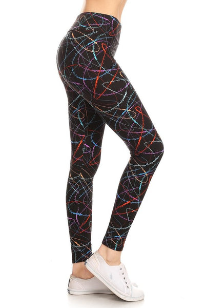 Leggings Depot ONE SIZE Scribble LY5RR638