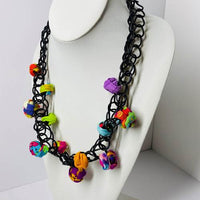 Ficklesticks Short Scribbles and Balls Necklace - Multicolor - N230A