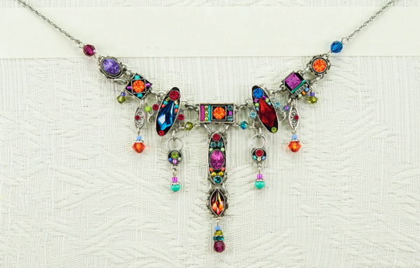 Firefly 8863 Necklace Milano With Drops Multicolor