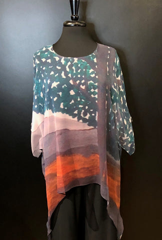 Cocoon House Silk Top with Long Points - Canopy
