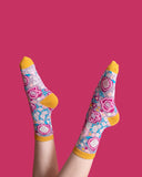 Powder UK Women's Socks - Abstract Floral - Lilac - SOC374