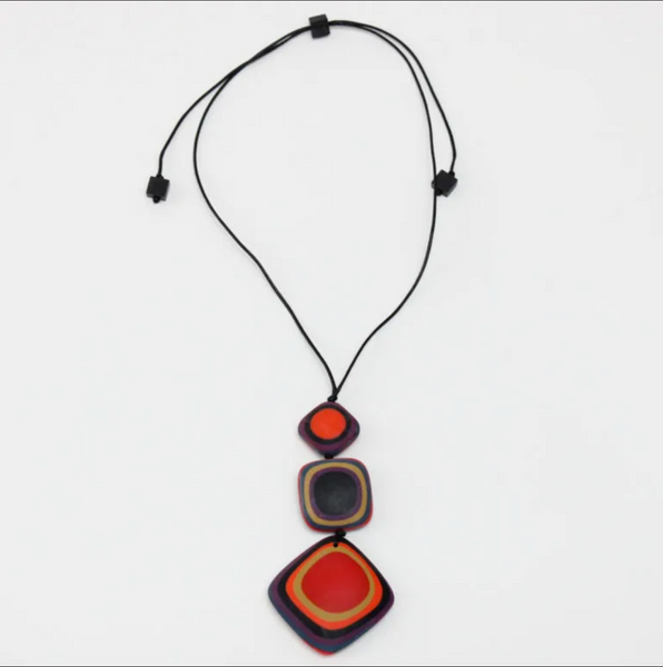 Sylca Multicolor Lara Pendant Necklace
