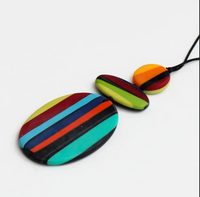 Sylca Multi Color Darcy Pendant Necklace