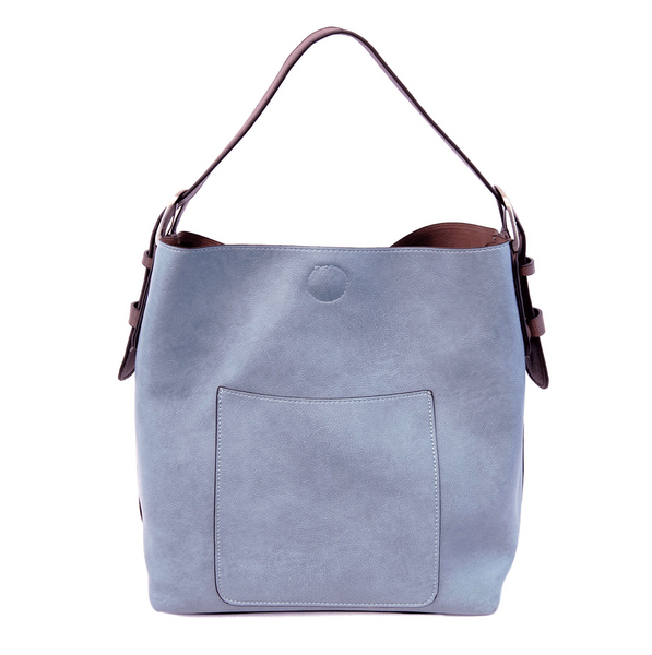 Joy Susan Classic Hobo Bag - Periwinkle/Coffee L8008-48