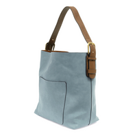 Joy Susan Classic Hobo Bag - Seersucker/Coffee L8008-57