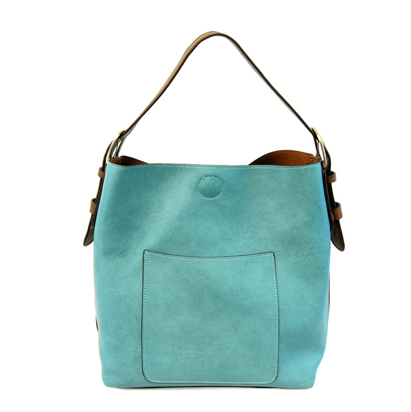 Joy Susan Hobo Bag - Turquoise/Coffee L8008-65