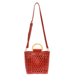 Joy Susan Madison Cut Out Tote - Red L8058-05