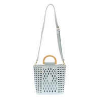 Joy Susan Madison Cut Out Tote - Sky Blue L8058-06